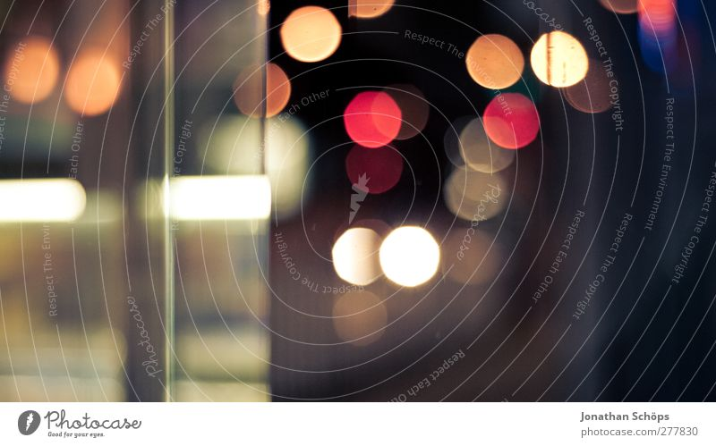 Bokeh 16:9 schön rot Gefühle träumen Stimmung Hintergrundbild orange Verkehr leuchten ästhetisch Kreis Stadtleben rund Stadtzentrum unklar Nachtleben