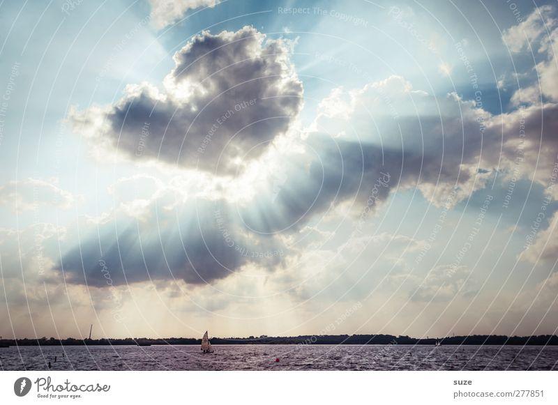 Neuseenland Himmel Natur blau Wasser Sommer Sonne Wolken Landschaft Umwelt See Horizont Wetter außergewöhnlich Klima Urelemente Schönes Wetter
