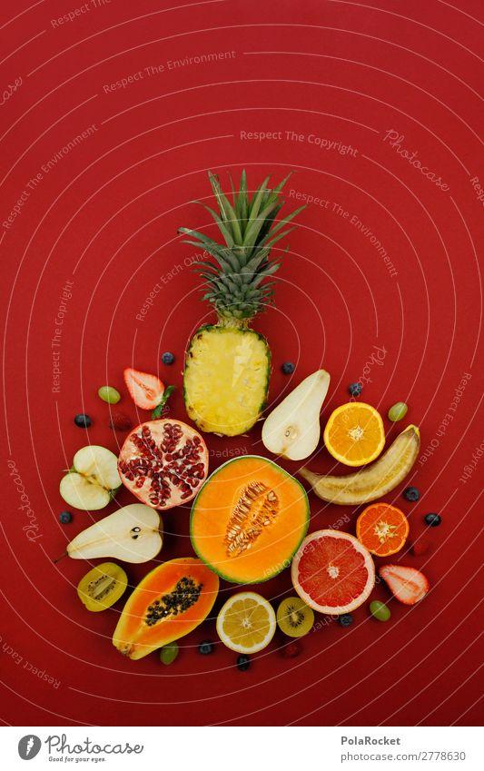 #A# Vitamin-Vielfalt Kunst Kunstwerk ästhetisch Kitsch Frucht Obstgarten Obstsalat Obstladen Obsttorte vitaminreich lecker Gesunde Ernährung