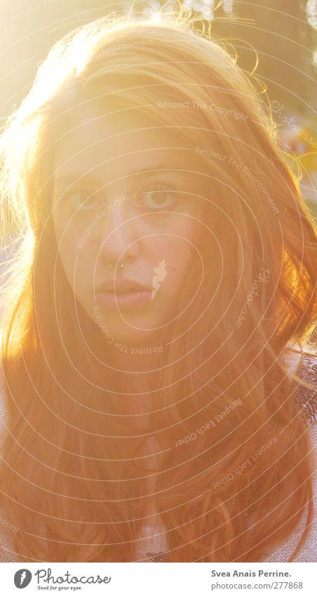 sonntags sonne II feminin Junge Frau Jugendliche Kopf Haare & Frisuren Gesicht Mund Lippen 1 Mensch 18-30 Jahre Erwachsene Natur Schönes Wetter brünett