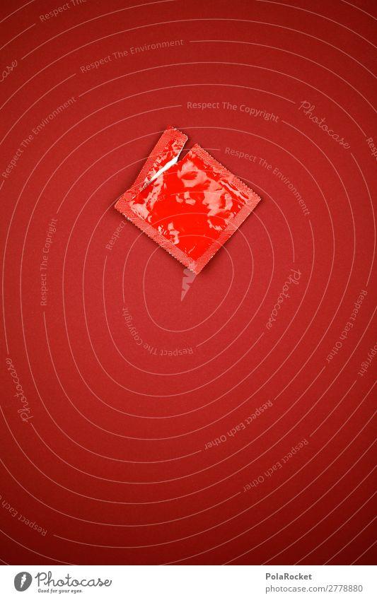 #A# better with Kunst ästhetisch Kitsch Kondom Verhütungsmittel Familienplanung Sex Sexualität Sexpraktiken Sex-shop Sexobjekt Sexuelle Neigung rot Verpackung