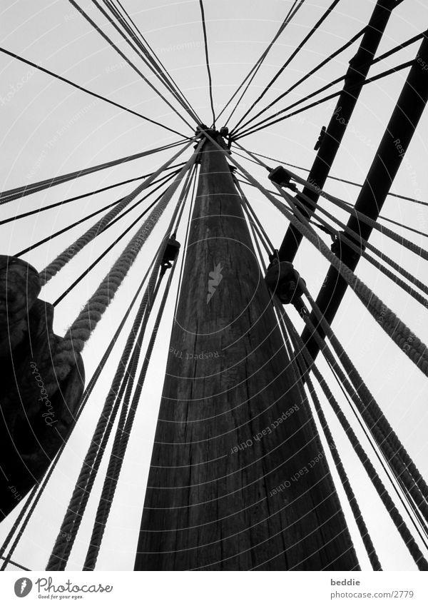 Taue 2 Seil Segeln Meer Wasserfahrzeug historisch Strommast