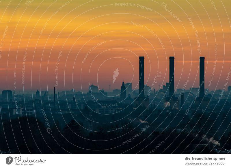 Heizkraftwerk Wilmersdorf Himmel Wolkenloser Himmel Sonne Sonnenaufgang Sonnenuntergang Winter Schönes Wetter Berlin Deutschland Europa Stadt Hauptstadt