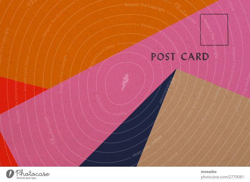 Postkarte Lifestyle elegant Stil Design Telekommunikation Business Unternehmen sprechen Medien Printmedien Neue Medien Internet E-Mail retro Hintergrundbild
