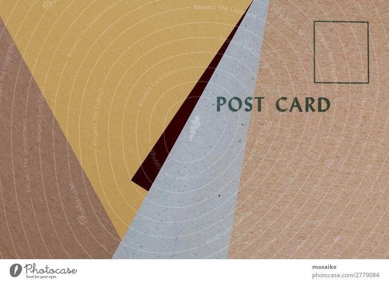 Postkarte für Sie - Grafikdesign Stil Design Handel Güterverkehr & Logistik Handwerk Business Karriere sprechen Kunst Papier ästhetisch retro braun gelb grau