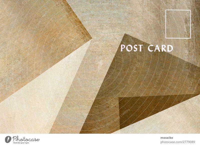 Postkarte für Sie - Grafikdesign Stil Design Dekoration & Verzierung Tapete Business sprechen Papier alt ästhetisch authentisch retro Kontakt Kreativität Text