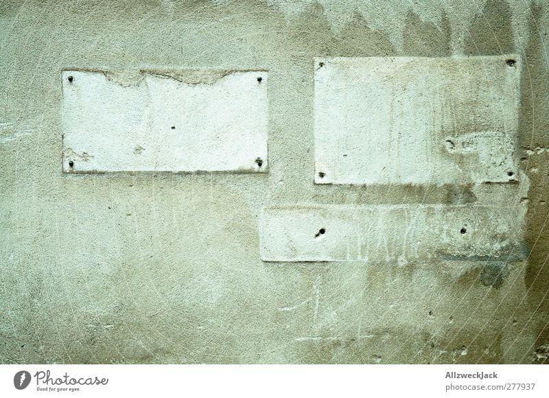 Textfreiraum Mauer Wand Stein Beton Schilder & Markierungen alt dreckig kaputt nackt grau Stadt Verfall Vergänglichkeit verlieren Wandel & Veränderung
