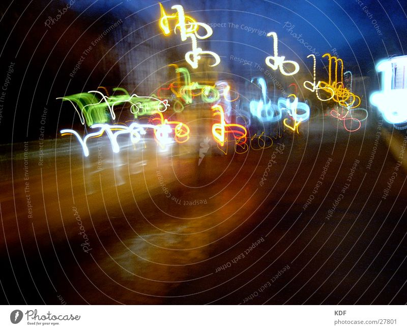 ....abends umtribig.... Straße Farbe Abenddämmerung Bremen