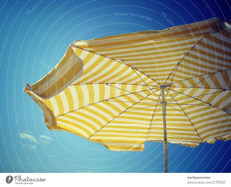 Sommer, Sonne, Sonnenschein Himmel blau Ferien & Urlaub & Reisen weiß Meer Strand gelb Frühling Freiheit Garten Stil Luft Schwimmen & Baden liegen