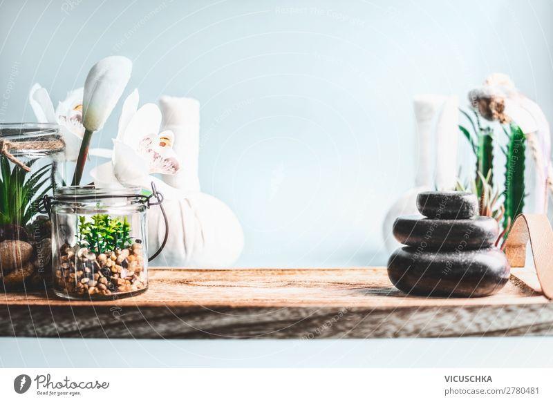 Wellness Set Lifestyle Design schön Körperpflege Kosmetik Gesundheit Behandlung Alternativmedizin Erholung Spa Massage Wohnzimmer Stil Hintergrundbild Zen