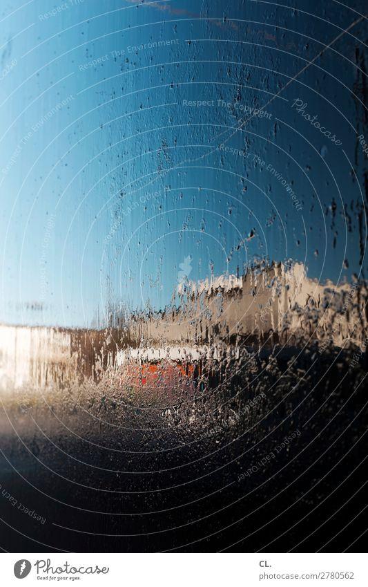 spiegelung auf lkw 1 Wolkenloser Himmel Schönes Wetter Bauwerk Gebäude ästhetisch außergewöhnlich nass einzigartig Inspiration komplex Kreativität Irritation