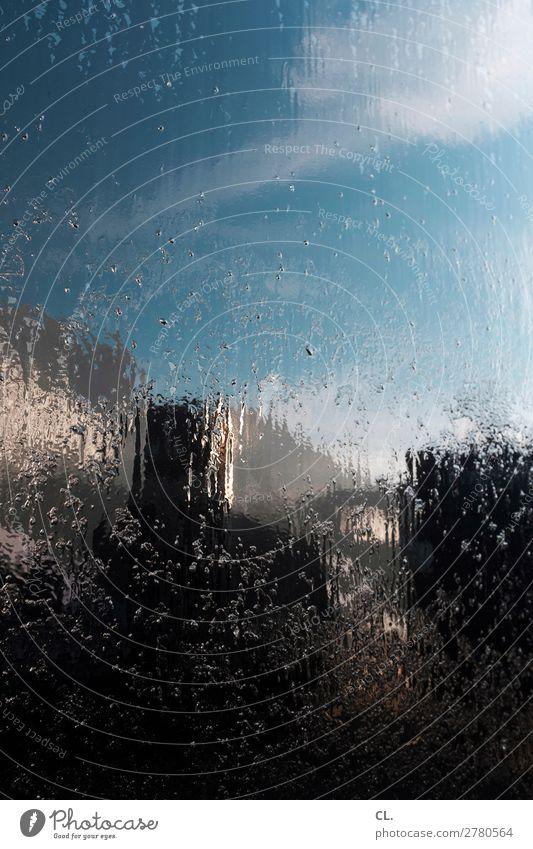 spiegelung auf lkw 3 Himmel Schönes Wetter Bauwerk Gebäude ästhetisch außergewöhnlich nass einzigartig Inspiration komplex Kreativität Irritation Farbfoto