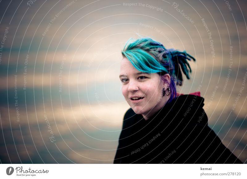 Hiddensee | Gutes Blau Mensch Jugendliche Meer Freude Erwachsene Gesicht Auge feminin Leben Junge Frau Haare & Frisuren Kopf 18-30 Jahre außergewöhnlich Nase Lifestyle