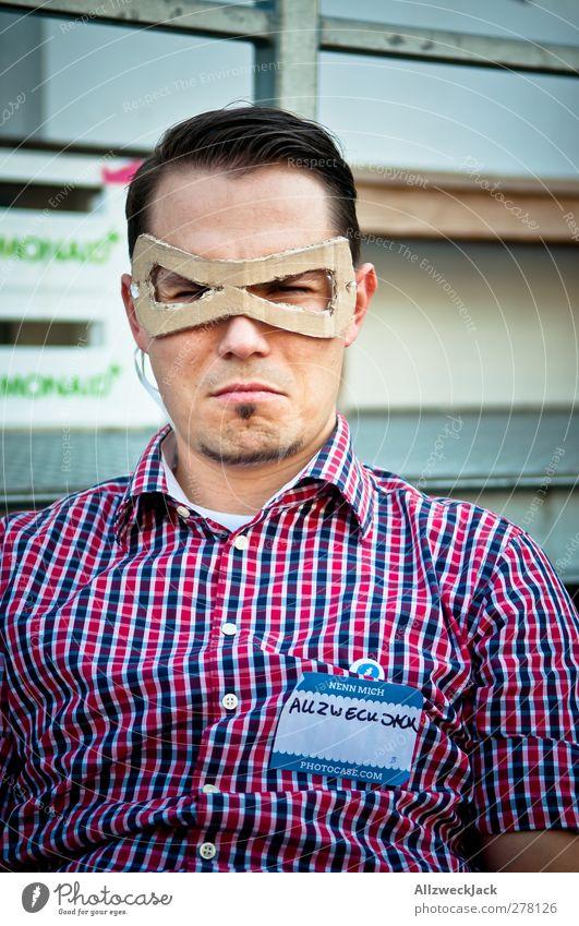 Neulich bei den anonymen Superhelden Mensch Mann Jugendliche Erwachsene Junger Mann 18-30 Jahre maskulin Coolness bedrohlich Kreativität Maske Wachsamkeit trendy Willensstärke anonym Identität
