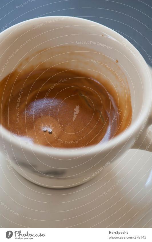 Guter Morgen weiß braun ästhetisch Kaffee lecker Tasse Espresso Kaffeetasse Kaffeetrinken cremig