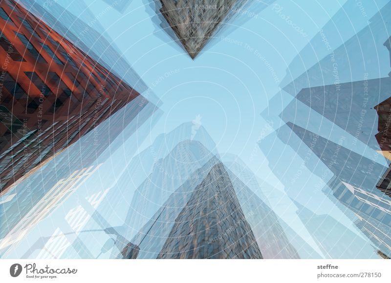 Dreh- und Angelpunkt Stadt Hochhaus ästhetisch USA Skyline Stadtzentrum Doppelbelichtung St. Louis