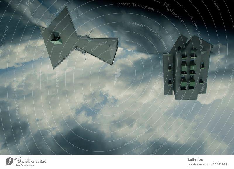 starscream Himmel Stadt Wolken Architektur Gebäude Hochhaus Bauwerk Handy eckig Bildschirm Fluggerät UFO Metamorphose Raumfahrzeuge