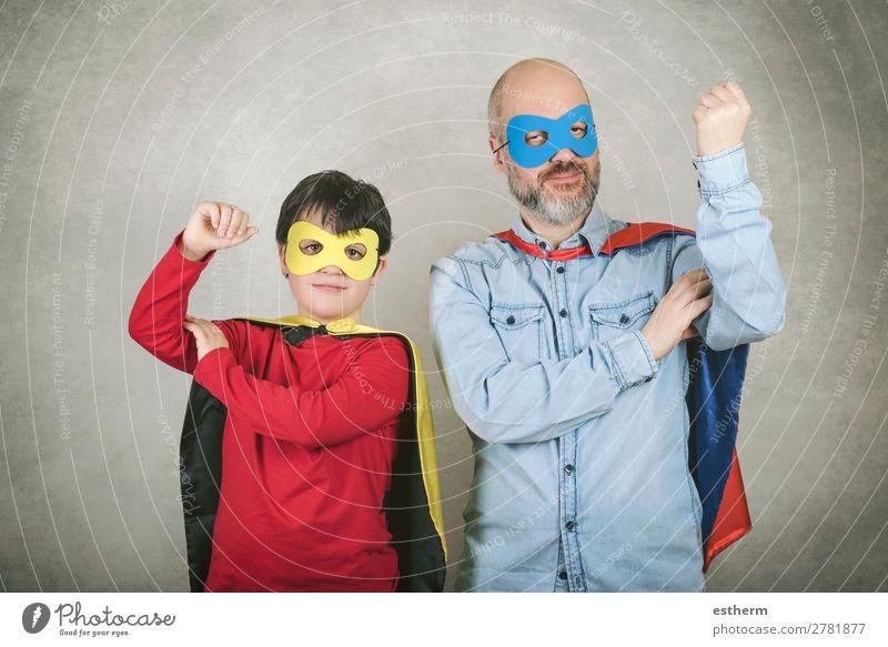 Kind Mensch Mann Freude Lifestyle Erwachsene Liebe Gefühle Familie & Verwandtschaft Feste & Feiern Zusammensein Freundschaft maskulin Kraft Lächeln Kindheit