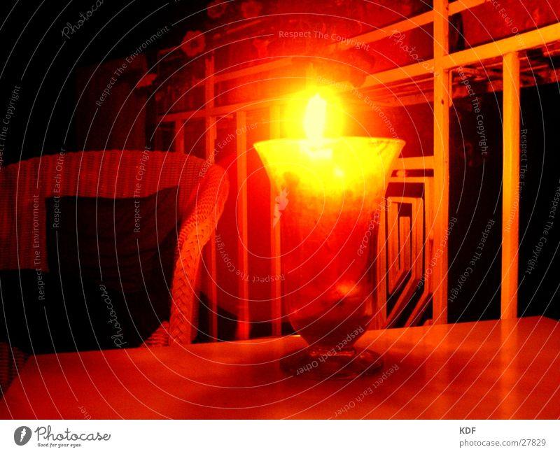 Stilleben gelb Lampe Wärme sitzen Kerze Stuhl Physik Stillleben