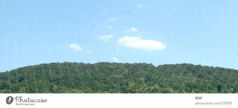 Blauer Himmel, Grüner Wald Ferien & Urlaub & Reisen Wolken Berge u. Gebirge groß Aussicht Hügel Panorama (Bildformat) Heidelberg