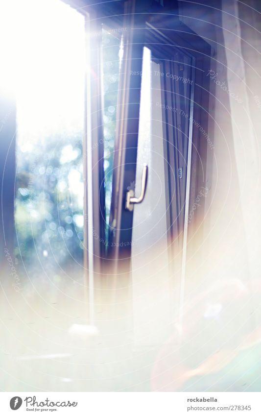 crack the shutters. Fenster Gefühle träumen hell Zufriedenheit Hoffnung Neugier Glaube positiv Optimismus