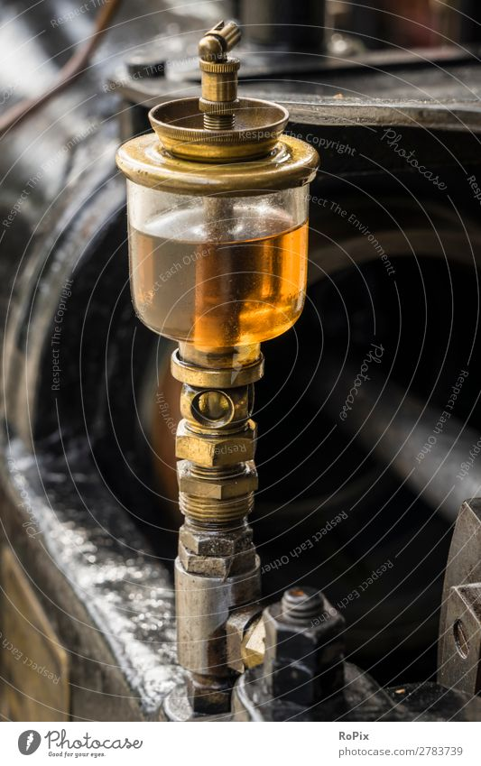 Ölereinheit an einer Dampfmaschine. Freizeit & Hobby Modellbau Arbeit & Erwerbstätigkeit Beruf Arbeitsplatz Wirtschaft Landwirtschaft Forstwirtschaft Industrie