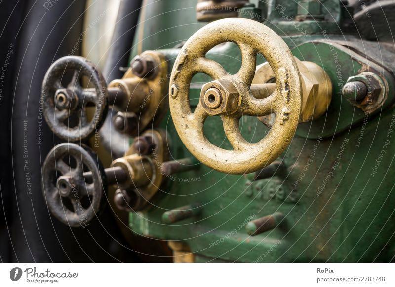 Ventile an einem Dampfmobil. Berufsausbildung Arbeit & Erwerbstätigkeit Handwerker Arbeitsplatz Wirtschaft Landwirtschaft Forstwirtschaft Industrie Business