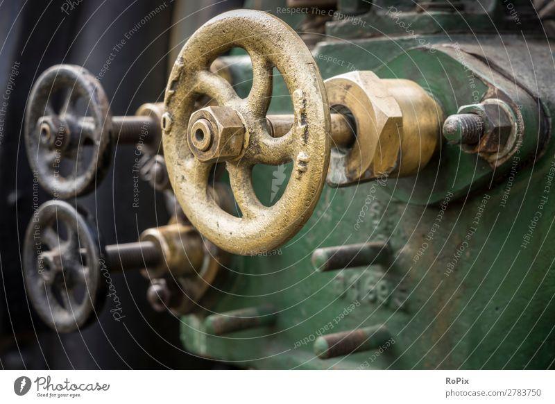 Ventile einer Dampfmaschine. Modellbau Wissenschaften Arbeit & Erwerbstätigkeit Handwerker Arbeitsplatz Wirtschaft Landwirtschaft Forstwirtschaft Industrie