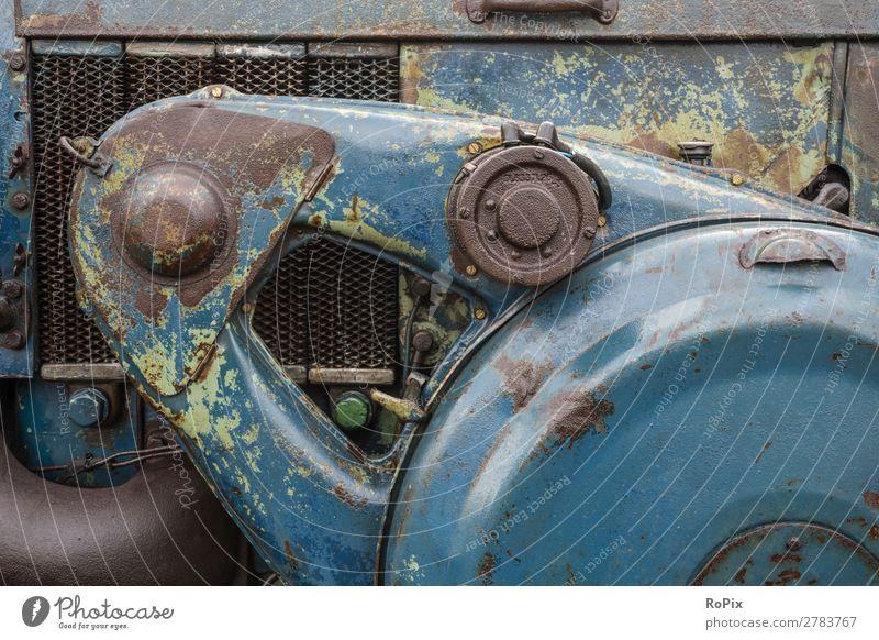 Detail eines Lanz Traktors. Arbeit & Erwerbstätigkeit Arbeitsplatz Landwirtschaft Forstwirtschaft Industrie Maschine Motor Getriebe Technik & Technologie