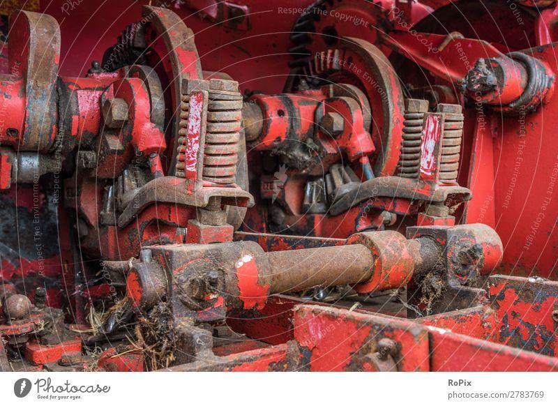 Heuballenpresse Arbeit & Erwerbstätigkeit Handwerker Landwirtschaft Forstwirtschaft Industrie Hardware Maschine Baumaschine Getriebe Technik & Technologie
