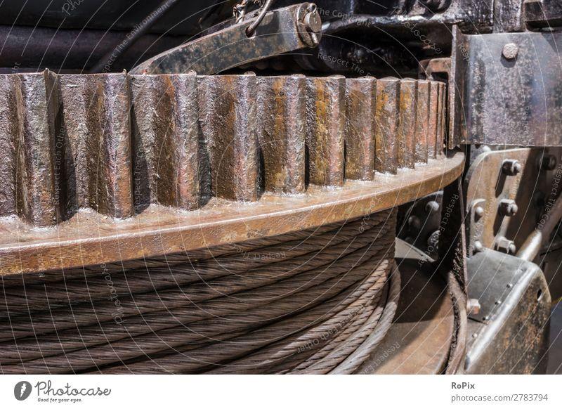 Seilwinde Arbeit & Erwerbstätigkeit Beruf Arbeitsplatz Landwirtschaft Forstwirtschaft Industrie Handwerk Werkzeug Maschine Technik & Technologie Wissenschaften