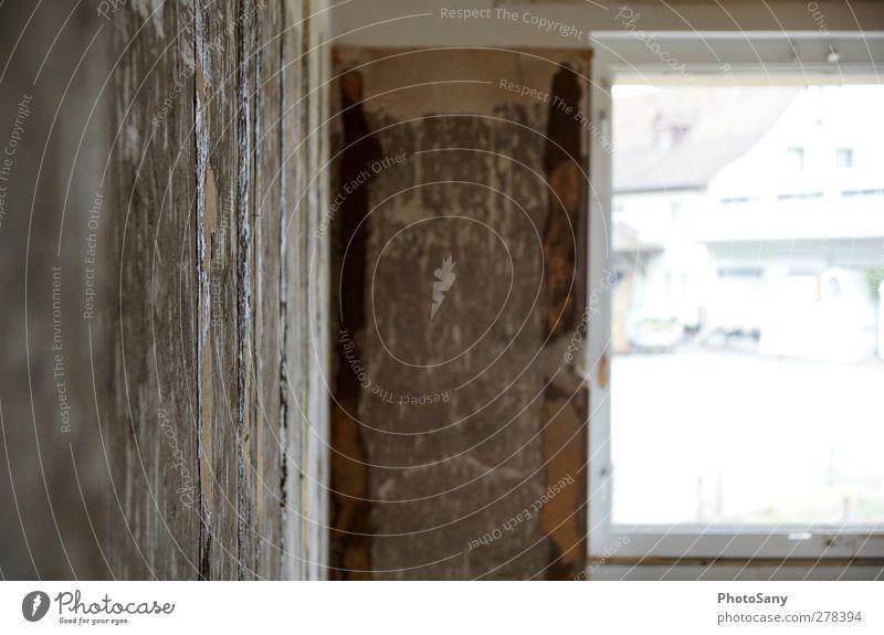Einblick alt Fenster Wand Mauer dreckig kaputt