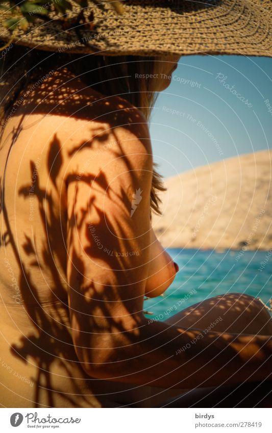 Pur Mensch Jugendliche nackt schön Wasser Junge Frau Meer Erotik 18-30 Jahre Erwachsene natürlich feminin Küste Frauenbrust ästhetisch Haut