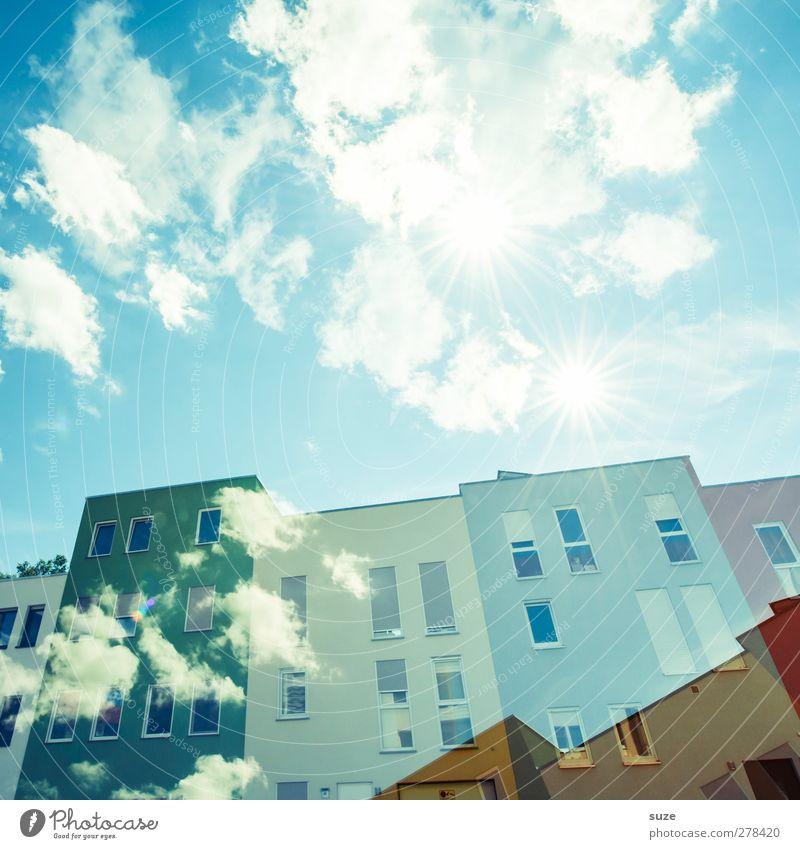 Solarworld Lifestyle Stil Design Sonne Häusliches Leben Haus Energiewirtschaft Erneuerbare Energie Sonnenenergie Umwelt Himmel Wolken Klima Schönes Wetter Stadt