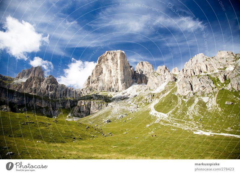 rosengarten südtirol Ferien & Urlaub & Reisen Tourismus Ausflug Abenteuer Ferne Freiheit Expedition Sommer Berge u. Gebirge wandern Umwelt Natur Landschaft