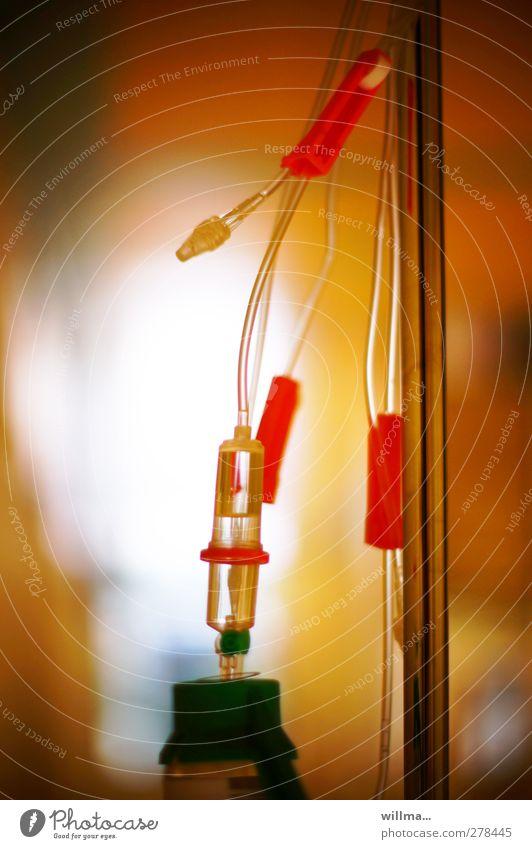 infusion in klinik | auslaufmodell rot Gesundheit orange Gesundheitswesen Krankheit Medikament Seniorenpflege Tropf Behandlung Krankenpflege Medizintechnik