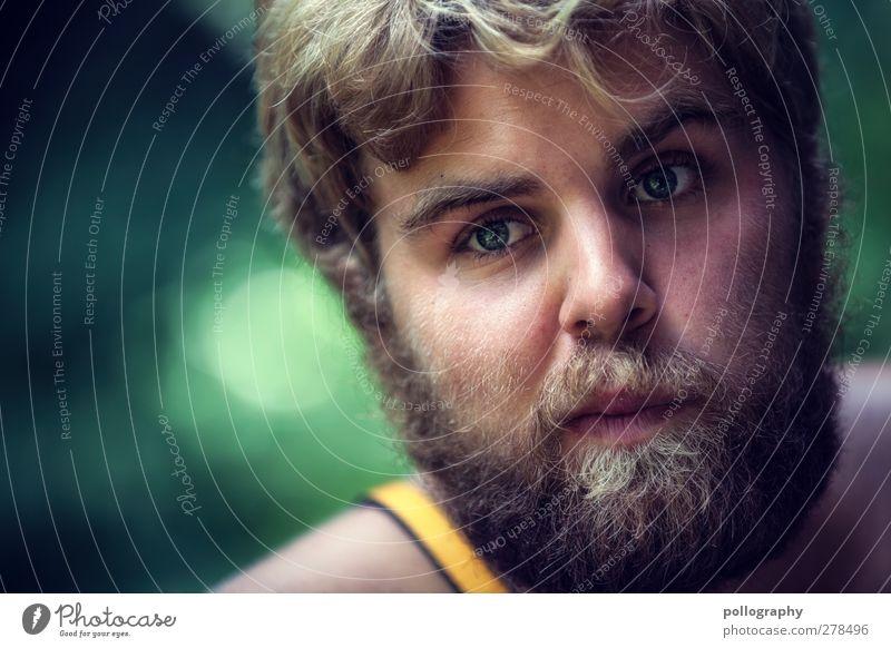 dream about (I) Mensch Mann Jugendliche grün ruhig Erwachsene Leben Gefühle Haare & Frisuren Traurigkeit Denken Junger Mann träumen 18-30 Jahre blond maskulin