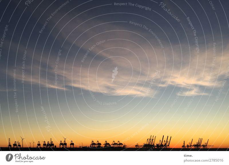 Hafenballett Arbeit & Erwerbstätigkeit Arbeitsplatz Kran Windrad Handel Güterverkehr & Logistik Energiewirtschaft Skulptur Theaterschauspiel Bühne Himmel Wolken