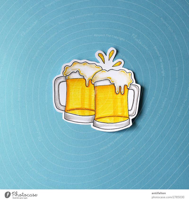 Prost Getränk trinken Erfrischungsgetränk Alkohol Bier Bierkrug Lifestyle Design Freude Freizeit & Hobby Basteln zeichnen Nachtleben Entertainment Party