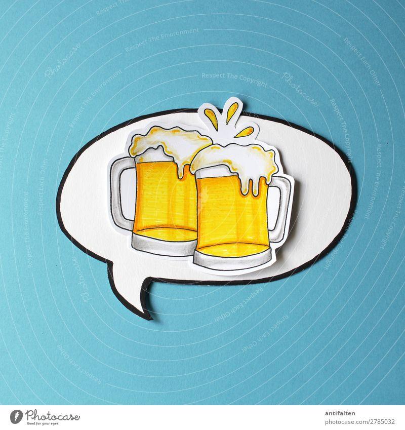 Bier her, Bier her... Getränk trinken Alkohol Bierkrug Lifestyle Design Freude Freizeit & Hobby Basteln zeichnen Grafik u. Illustration Ferien & Urlaub & Reisen