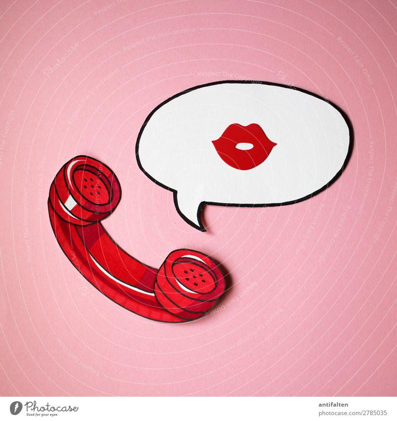 RUF MICH AN! Mensch rot Erotik Lifestyle Erwachsene Leben Graffiti sprechen Liebe feminin Paar Kunst rosa Design retro Sex