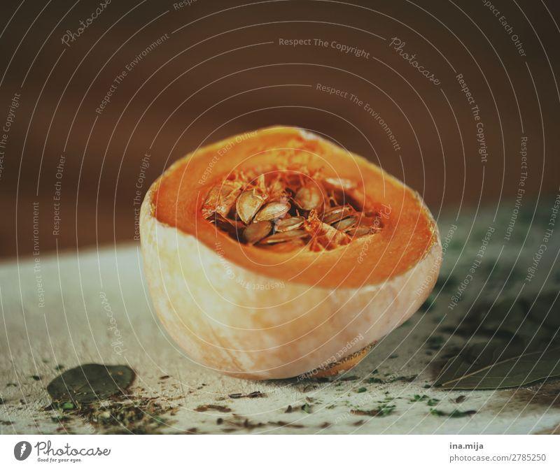 Kürbis Gesunde Ernährung Gesundheit Lebensmittel orange frisch genießen lecker Gemüse Essen zubereiten Bioprodukte Vegetarische Ernährung Diät Abendessen