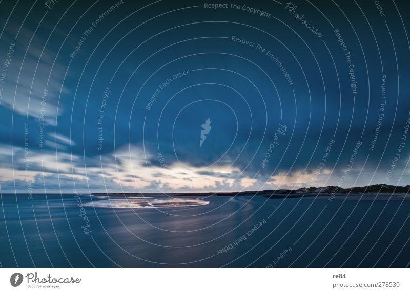 Creation of a Universe II Strand Meer Insel Umwelt Natur Urelemente Wasser Wolken Gewitterwolken Horizont Wetter Wind Küste Bucht Menschenleer blau ruhig