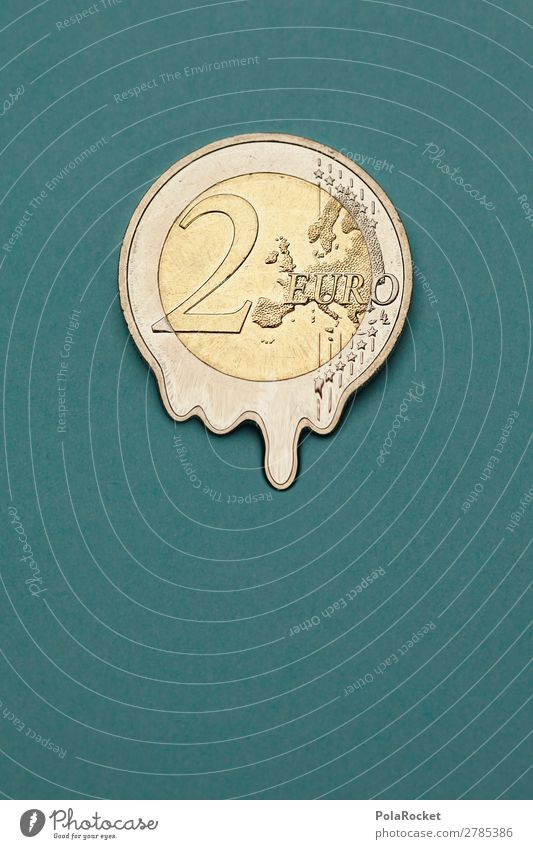 #A# 2-Euro-Inflation Kunst Kunstwerk ästhetisch Eurozeichen Geldmünzen Finanzkrise Geldinstitut Geldgeschenk Geldnot Geldkapital Geldgeber Geldverkehr Verfall
