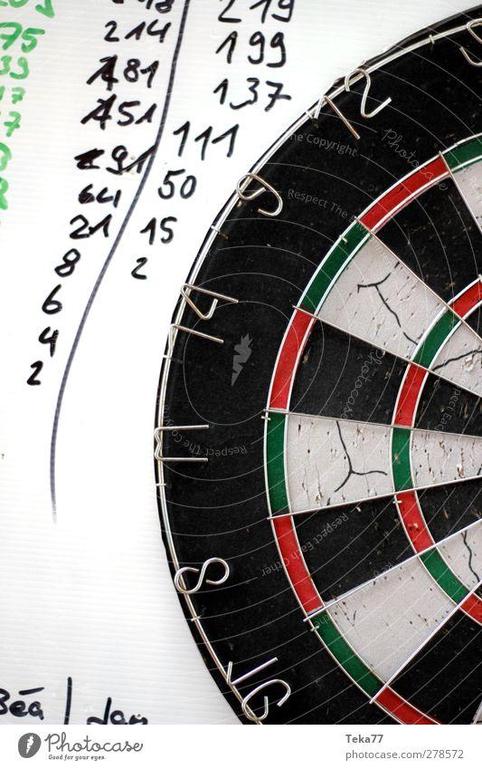 Gewinner und Verlierer Freizeit & Hobby Spielen Darts Karton Dartscheibe Ziffern & Zahlen Verabredung Erfolg verlieren Glück talentiert ästhetisch rot schwarz