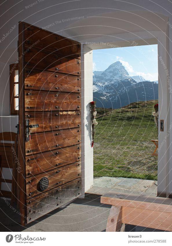 Berg- Hochzeit Berge u. Gebirge Glück Feste & Feiern Zufriedenheit Fröhlichkeit Schönes Wetter Alpen