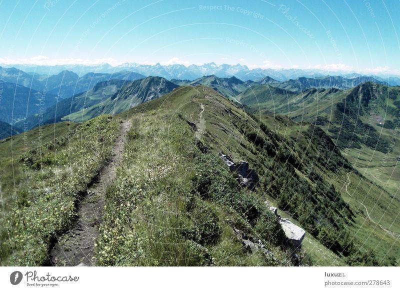 Trail Ferien & Urlaub & Reisen Berge u. Gebirge Wege & Pfade wandern Alpen Gipfel Fußweg Mountainbike Pass