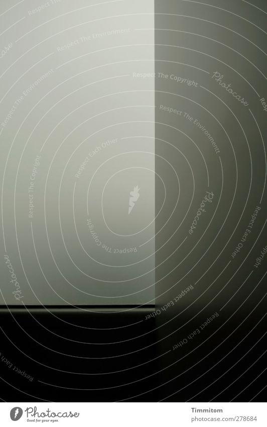 Lebensraum. Holz Glas Kunststoff Blick ästhetisch Coolness einfach grau schwarz Reinlichkeit Sauberkeit Trennwand Milchglas Linie Farbfoto Gedeckte Farben