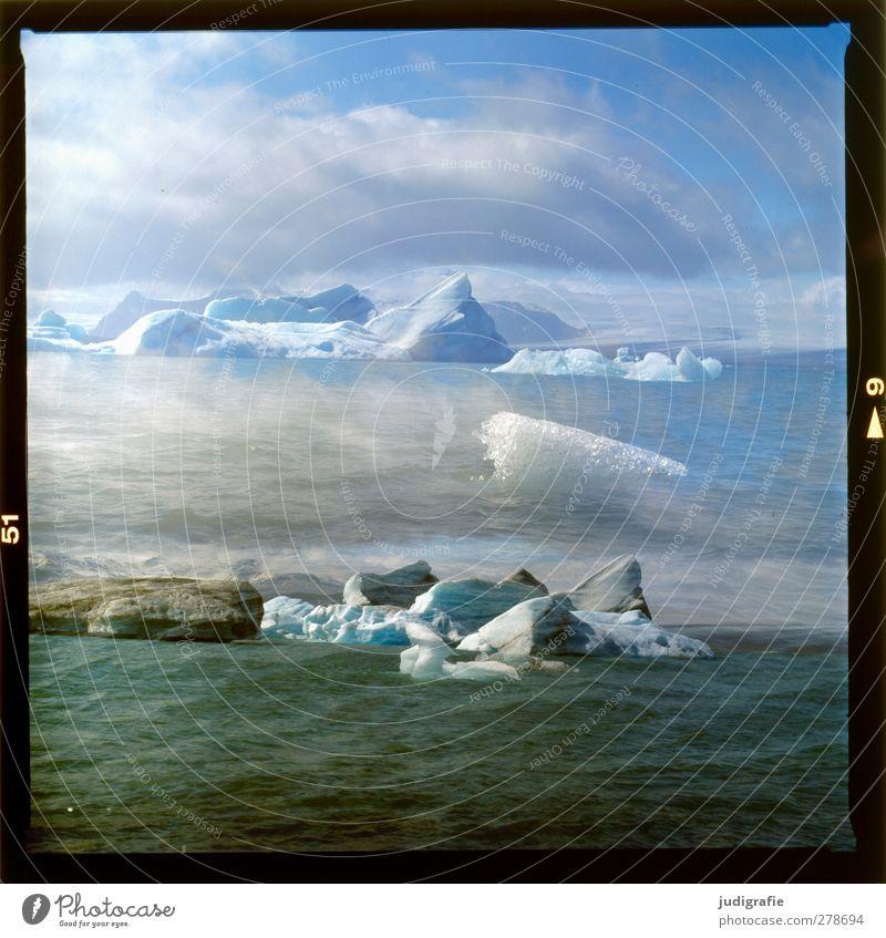 Island Natur Wasser Landschaft Umwelt kalt See Stimmung Eis Schwimmen & Baden außergewöhnlich Klima wild Frost Wandel & Veränderung Vergänglichkeit