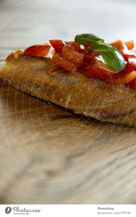 Bruschetta Lebensmittel genießen Gemüse Brot Tomate Italienische Küche